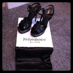 YSL Tribute Patent Leather High Heels- In Box